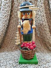 Steinbach Nutcracker Harvester Rake Basket Sickle Cherries Grapes Red Berries