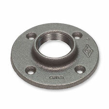 "3/4"" BLACK MALLEABLE IRON FLOOR FLANGE fitting pipe npt"