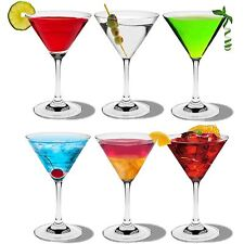 Martini Cocktail Crystal Drinking Glasses In Gift Box. 200ml - x6