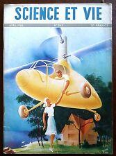 SCIENCE ET VIE n°343 du 4/1946; L'avenir de l'Hélicoptère/ Tv sur grand écran