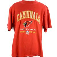 Arizona Cardinals Mens Large Red T-Shirt NFL Embroidered Logo Athletic Vtg 90s
