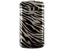 Durable Plastic Design Phone Protector Cover Case Silver Zebra For LG Enlighten