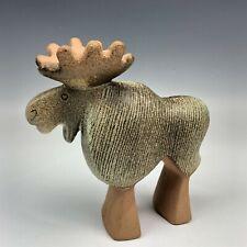 Lisa Larson Swedish Art Pottery Moose Elk Gustavsberg Modernist Sculpture QEN NR
