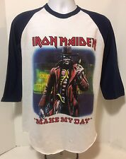 1986 IRON MAIDEN  SHIRT~STRANGER IN A STRANGE LAND~ MAKE MY DAY~ SCREEN STRARS L