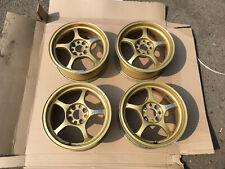 Wheels set Rays GramLight 57C 15' 6,5J +38 4 holes PCD100 original Rims Japan
