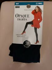 BNWT Marks and Spencer Navy Tights Size Small