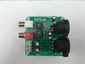 KMTech 2-Channel DRV134 based Differential Balanced Line Driver converter
