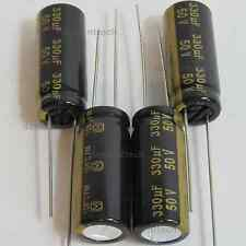 4x Panasonic FM 330uF 50v Low-ESR radial capacitors caps 105C 10mm 10x25
