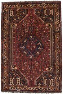 Tribal Design Hand-Knotted Vintage 5'9X8'6 Oriental Rug Farmhouse Decor Carpet
