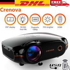 LED Full HD 1080P Beamer Mini Projektor Heimkino Beamer TV Spiel HDMI Video DE
