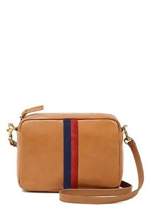 Clare V. Midi Sac Crossbody Handbag in Natural with Stripes