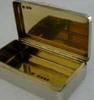 STUNNING QUALITY ENGLISH SOLID SILVER ENGINE TURNED SNUFF PILL BOX 1843