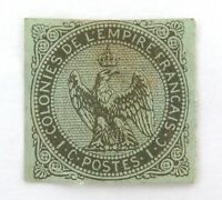 .FRANCE 1859 - 1865 FRENCH COLONIES 1c IMPERF MH STAMP.
