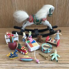 Dolls House Miniatures 12th Scale Mixed Toys Rocking Horse Drum Train