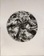 Original 1980s etching by Adolf FROHNER, Körperwelt II