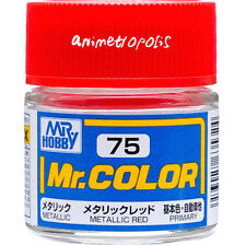 GSI Creos Gunze Mr Hobby Color Lacquer C75 Metallic Red Paint 10ml