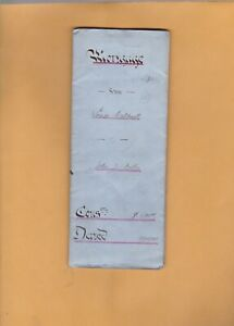 CANADA NEWFOUNDLAND 1900 MORTGAGE     PAPERS  WITH  REVENUE STAMPS