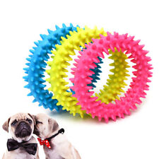 Dog Biting Ring Toy Dog Soft Rubber Molar Toy Pet Bite Cleaning Tooth Toy ZB'UK