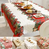 Christmas Tablecloth Rectangle Table Cloth New Year Table Cover Xmas Party