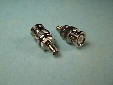 2 COAX ADAPTERS SMA FEMALE TO BNC MALE RF CONNECTOR NEW