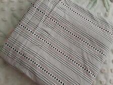 Ralph Lauren FULL Flat Sheet White Black Red Stripe & Dots Cotton XLNT