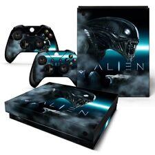 Xbox One X Console Skin Decal Sticker Alien Movie Custom + 2 Controller Skins