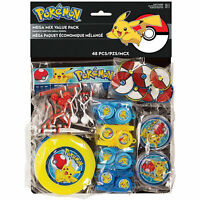 Pokemon Pikachu 48 piece Favor Pack Birthday party supplies
