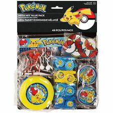 Pokemon Pikachu 48 piece Favor Pack Birthday party supplies
