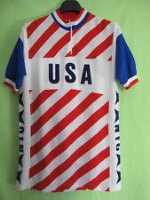 Maillot Cycliste Team USA cycling NYC Made Belgium vintage Acrylique - 7 / XXL