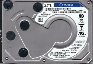"""Western Digital WD30NMZW-11GX6S1 s/n: WX51D 3TB USB 3.0 NOV 2017 2.5"""" HDD B20-15"""