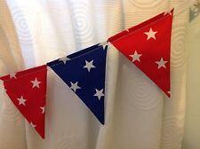 Ragazzi Bunting per Tende Tie-Backs ~ rosso e blu Shooting Stars