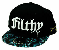 NEW AUTHENTIC UNISEX FILTHY DRIPPED AS0214-HAT-06 BLACK COLOR SNAKE CHARMER HAT