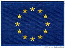 EU EUROPEAN UNION FLAG PATCH EMBROIDERED EURO IRON-ON France Germany UK Greece