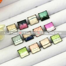 12pairs10mm Fashion Earrings Stud Earrings Glass cabochon Earrings clouds series