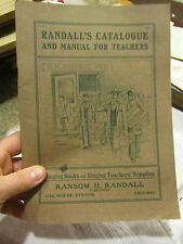 Randall's Catalogue and Manual for Teachers Choral book