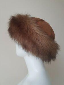 Cossacks Style Faux Fur Tan Brown Colour Ladies Hat Size M/L