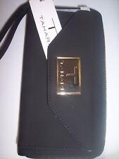 "Tahari Zip Around Black Wallet with RFID ,  7-1/2"" L x  4"" T"
