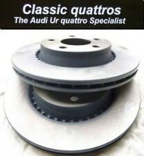 2 x NEW VENTED FRONT BRAKE DISCS AUDI UR QUATTRO TURBO COUPE - AUDI 100 - 200