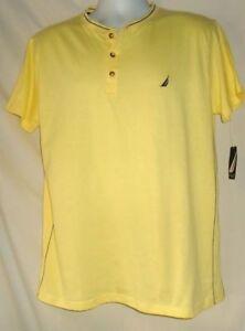 Men's Short Sleeved Night Shirt Yellow Nautica NWT