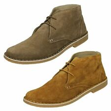 MENS LAMBRETTA CARNABY LACE UP LEATHER SUEDE DESERT ANKLE BOOTS SIZE UK 7 - 12