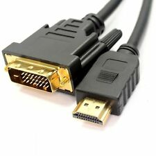 3m HDMI HD v1.4 To DVI-D 24+1 Pin Male GOLD Cable For DTV Plasma display LCD UK