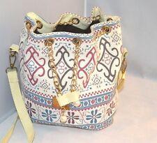 Canvas Hobo Purse Bag NEVER USED! Pearl Chain Henna JHO Jinhaiou (O Bag Style)