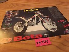 Beta Trial 125 250 Techno , ALP 125 250 brochure catalogue moto prospectus