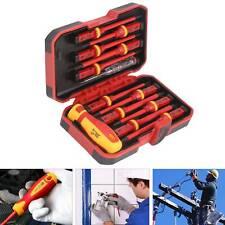 13 un. Pro Electricistas Aislados Eléctrico Mano Destornillador Set con Caja UK