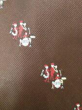 Vintage 70s Jazz Band Drums Saxaphone Trombone Andhurst Wide Polyester Tie