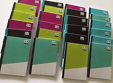 50 X Bolsillo Bloc de notas portátil Almohadillas Cubiertas De Color A7 gobernado páginas 50 Hojas