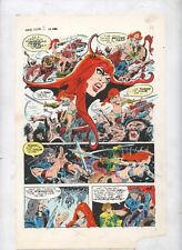 Red Sonja Marvel feature 2 Hand inked pages color proof comic art Frank Thorne