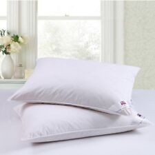 Dickens Luxury Goose Feather & Down Box Pillows With A Cotton Cover Bed Comfort