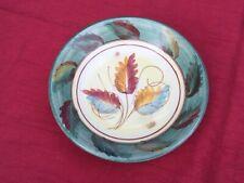 More details for mid century modern denby studio pottery pedestal bowl signed glyn
