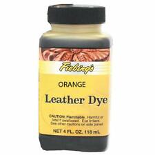Fiebings - Leather Dye, Alcohol Based, 4 Fl. Oz. 118 Ml (Orange)